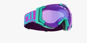 Lyžiarske okuliare Bliz Carver SF OTG turq.frame pink w Blue Multi