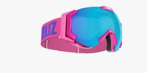 Lyžiarske okuliare Bliz Carver SF OTG pink frame brown w Blue Multi