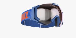 Lyžiarske okuliare Bliz Carver SF OTG blue frame orange w silver mirror