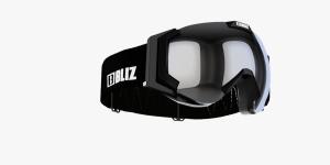 Detské lyžiarske okuliare Bliz Carver JR OTG black frame orange w.silver mirror