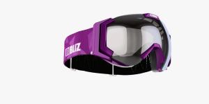 Detské lyžiarske okuliare Bliz Carver JR OTG purple frame orange w.silver mirror