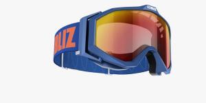 Lyžiarske okuliare Bliz Edge OTG blue frame brown w.red multi