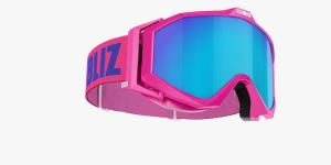 Lyžiarske okuliare Bliz Edge OTG pink frame brown w.blue multi