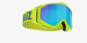 Lyžiarske okuliare Bliz Edge OTG lime frame brown w.blue multi