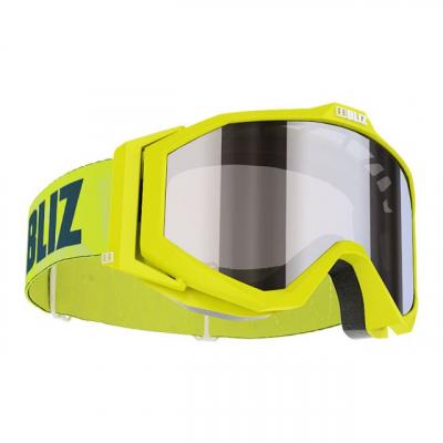 Detské lyžiarske okuliare Bliz Edge JR OTG lime frame orange w.silver mirror
