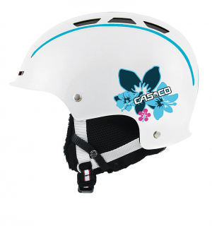 Detská lyžiarska prilba Casco Snow Fun Junior white-Hibiscus