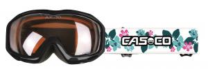 Detské lyžiarske okuliare Casco AX-30 PC white-Hibiscus