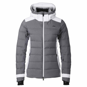 Lyžiarska bunda Kjus Ladies Snowscape Jacket nine iron melange white