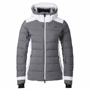 Lyžiarska bunda Kjus Ladies Snowscape Jacket nine iron melange white