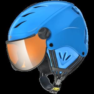 Lyžiarska prilba so štítom CP Camulino blue orange