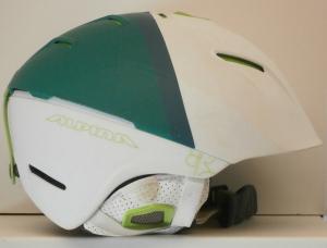 Lyžiarska prilba BAZÁR Alpina white green 60-62