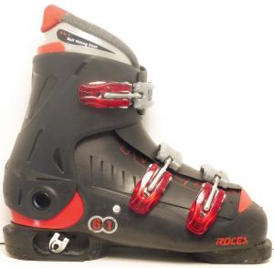Detské lyžiarky BAZÁR Roces Black 3 225-265