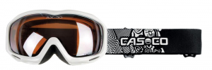 Detské lyžiarske okuliare Casco AX-30 PC white