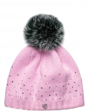 Lyžiarska čiapka Toni Sailer JOANA Fur Rose Blush
