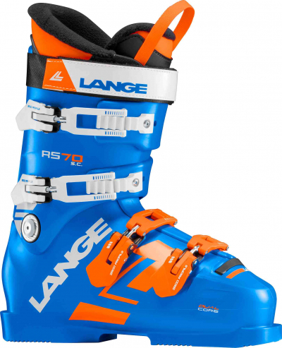 Detské závodné lyžiarky Lange RS 70 S.C. power blue/orange wh.