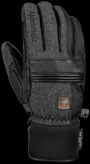 Lyžiarske rukavice Reusch Quentin Meida®DRY black/black melange