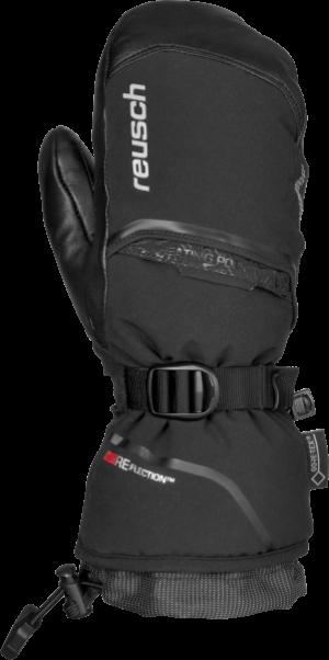 Dámske lyžiarske rukavice Reusch Volcano GTX MITTEN+GORE WARM TECHNOLOGY black/silver