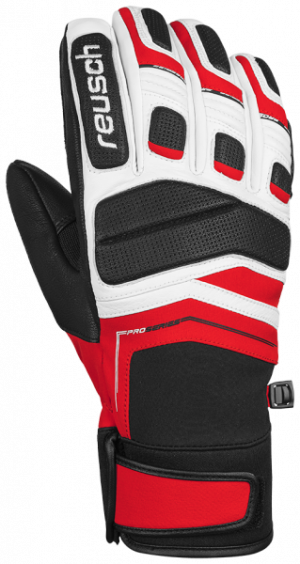 Lyžiarske rukavice Reusch Profi SL white/fire red