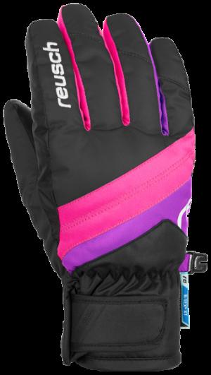 Detské lyžiarske rukavice Reusch Dario R-TEX® XT JUNIOR black/pink glo