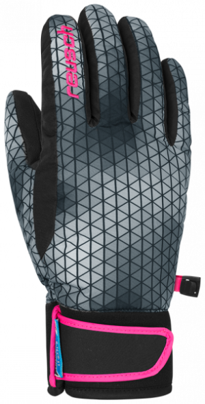 Detské lyžiarske rukavice Reusch IRIS R-TEX XT JUNIOR black/white