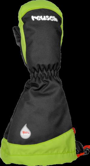 Detské lyžiarske rukavice Reusch Walter R-TEX® XT MITTEN black/neon green