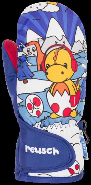 Detské lyžiarske rukavice Reusch SNOWY R-TEX® XT MITTEN dazzling blue