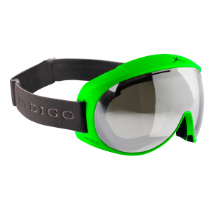 Lyžiarske okuliare Indigo Voggle Neon Green Mirror Double Lens