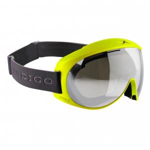 Lyžiarske okuliare Indigo Voggle Neon Yellow Mirror Double Lens