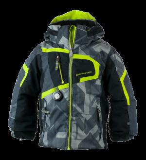 Detská lyžiarska bunda Obermeyer Super G Jacket Gridlock Print