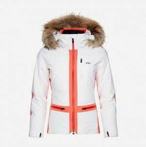 Lyžiarska bunda KJUS Women Nuna Jacket white.spicey orange