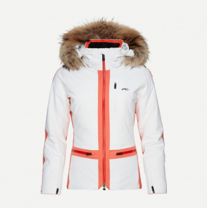 Lyžiarska bunda KJUS Women Nuna Jacket white.spicey orange