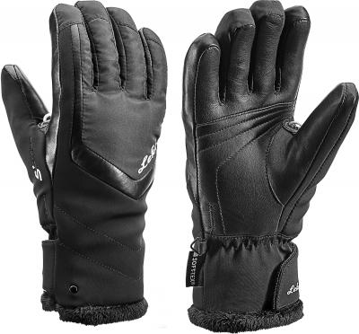 Dámske lyžiarske rukavice Leki Stella S lady black