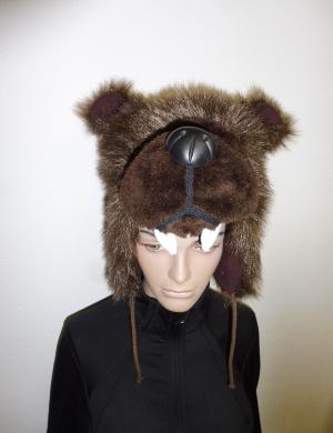 Lyžiarska čiapka Elon Bear Brown