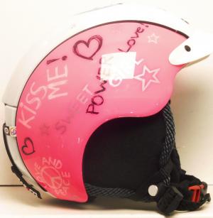 Lyžiarska prilba BAZÁR Casco Mini ori wh/pink S