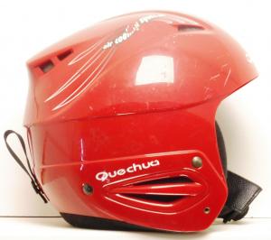 Lyžiarska prilba BAZÁR Quechua Red 52-56