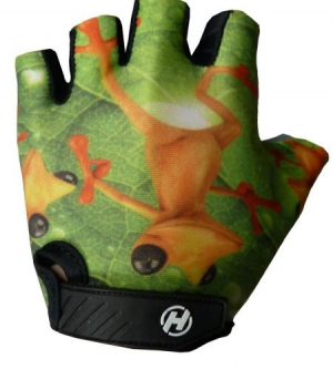 Detské rukavice na bicykel Haven Dream frog
