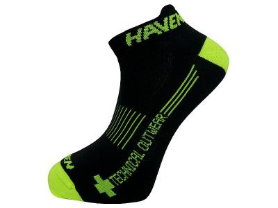 Detské ponožky na bicykel Haven Snake Neo Black/Yellow 2 páry