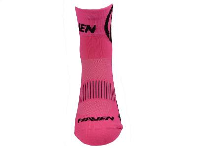 Detské ponožky na bicykel Haven Lite Neo Pink 2 páry