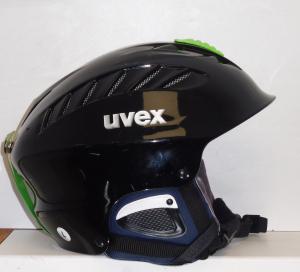 Lyžiarska prilba BAZÁR Uvex black-green 58-60