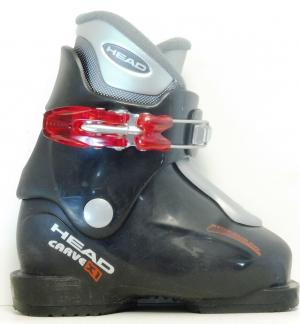 Detské lyžiarky BAZÁR Head Carve X1 Black 165