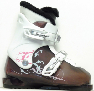 Detské lyžiarky BAZÁR Salomon T2 violet 195
