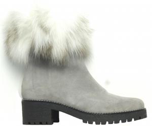 Luxusná dámska obuv Diavolezza 168 Velour Grey/Artic Fox