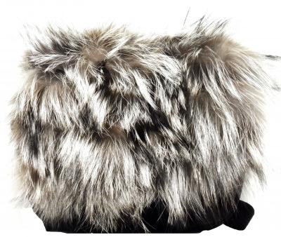 Luxusná dámska kabelka Diavolezza B27 Velour Black/Clooney Fox