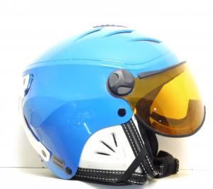 Lyžiarska prilba BAZÁR CP Camurai  Blue Visor 49-52