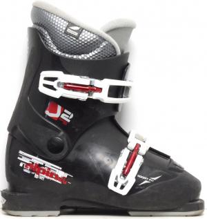 Detské lyžiarky BAZÁR Alpina J2 Black/Red 200