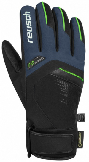 Lyžiarske rukavice Reusch Beat GTX dress blue/neon yellow