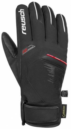 Lyžiarske rukavice Reusch Beat GTX black/white/fire red