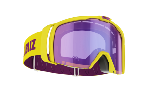 Lyžiarske okuliare Bliz Nova shiny yellow /brown w purple multi