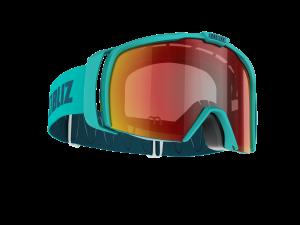 Lyžiarske okuliare Bliz Nova matt turquise/brown w red multi