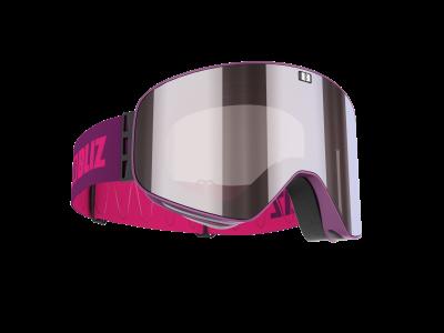 Lyžiarske okuliare Bliz Flow matt magenta/brown w silver mirror + pink